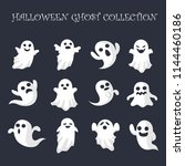 nice halloween ghosts collection | Shutterstock .eps vector #1144460186