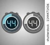 electronic digital stopwatch.... | Shutterstock .eps vector #1144471436