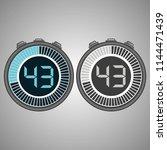 electronic digital stopwatch.... | Shutterstock .eps vector #1144471439