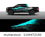 vehicle decal wrap design ... | Shutterstock .eps vector #1144472150