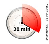 realistic clock face with... | Shutterstock .eps vector #1144478459