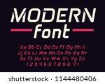 geometric modern techno font... | Shutterstock .eps vector #1144480406