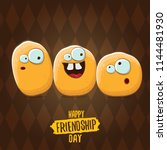 vector friends tiny kids potato ... | Shutterstock .eps vector #1144481930