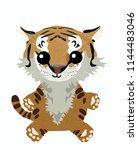 vector illustration of tiger... | Shutterstock .eps vector #1144483046