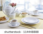 ceramic tableware on the table | Shutterstock . vector #114448888