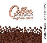 vector morning typographical... | Shutterstock .eps vector #1144493999