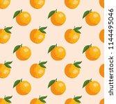 vector summer pattern with... | Shutterstock .eps vector #1144495046