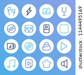 sound icon set and music file...