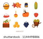 cartoon flat harvest...   Shutterstock .eps vector #1144498886
