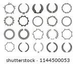 set of laurel wreaths. heraldic ... | Shutterstock .eps vector #1144500053