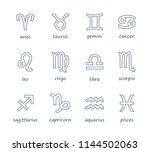 set of outline zodiac symbol... | Shutterstock .eps vector #1144502063