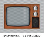 old wooden television.vector... | Shutterstock .eps vector #1144506839