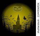 hell halloween party pattern....   Shutterstock .eps vector #1144506926