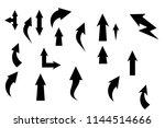 black arrow  icon set vector... | Shutterstock .eps vector #1144514666