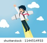 salary man 01 are flying fast... | Shutterstock .eps vector #1144514933