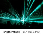 turquois laser show nightlife... | Shutterstock . vector #1144517540