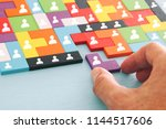 image of tangram puzzle blocks... | Shutterstock . vector #1144517606
