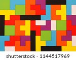 a colorful square tangram... | Shutterstock . vector #1144517969