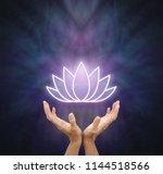 symbolic lotus healing energy  ... | Shutterstock . vector #1144518566
