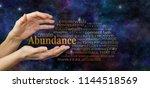 cosmic create abundance word... | Shutterstock . vector #1144518569