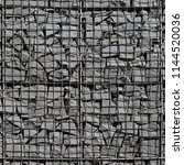 gabion wall construction method ... | Shutterstock . vector #1144520036