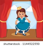 kids theater performance show... | Shutterstock .eps vector #1144522550