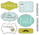 happy thanksgiving frames | Shutterstock .eps vector #114452410