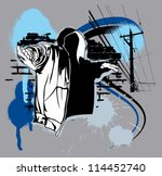 hip hop urban graffiti | Shutterstock .eps vector #114452740