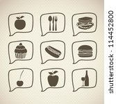 Illustration Of Food Icons And...