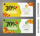 discount voucher template with... | Shutterstock .eps vector #1144529630