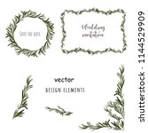 rosemary design elements.... | Shutterstock .eps vector #1144529909