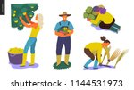 harvesting people   set of... | Shutterstock .eps vector #1144531973