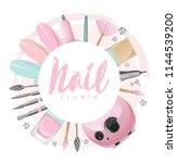 nail studio logo | Shutterstock .eps vector #1144539200