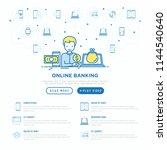 online banking concept  man...   Shutterstock .eps vector #1144540640