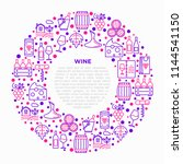 wine concept in circle with...   Shutterstock .eps vector #1144541150