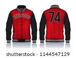 varsity jacket design... | Shutterstock .eps vector #1144547129