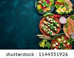 set of food. chicken breast... | Shutterstock . vector #1144551926