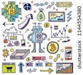 bitcoin cryptocurrencies... | Shutterstock .eps vector #1144554380