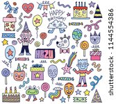 happy birthday to you  doodle... | Shutterstock .eps vector #1144554386