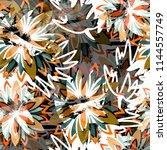 seamless pattern floral design. ... | Shutterstock . vector #1144557749