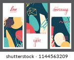 set of creative universal... | Shutterstock .eps vector #1144563209
