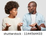 confused african american...   Shutterstock . vector #1144564433