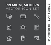 modern  simple vector icon set... | Shutterstock .eps vector #1144565813