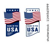 made in usa sign  label  icon.... | Shutterstock .eps vector #1144565999