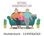 national grandparents day.... | Shutterstock .eps vector #1144566263