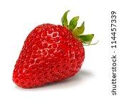 strawberry over white background | Shutterstock . vector #114457339