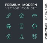 modern  simple vector icon set... | Shutterstock .eps vector #1144576436