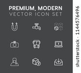 modern  simple vector icon set... | Shutterstock .eps vector #1144576496