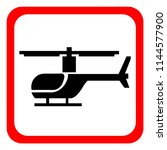 a helicopter icon on a white... | Shutterstock .eps vector #1144577900