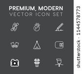 modern  simple vector icon set... | Shutterstock .eps vector #1144578773